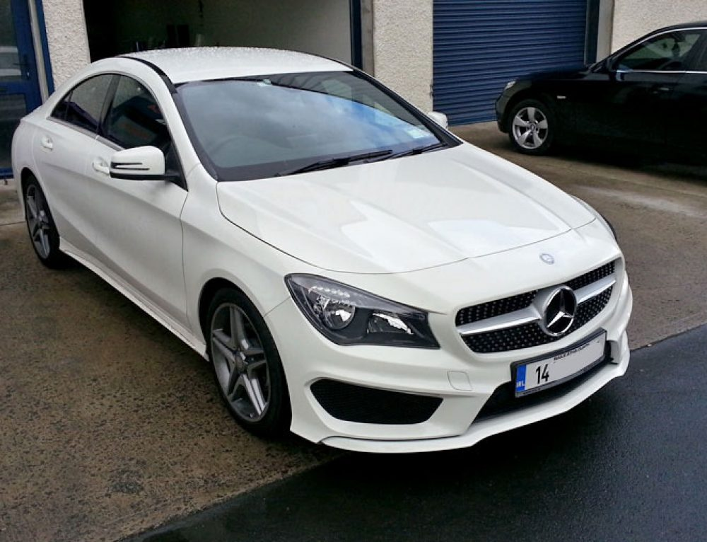 Mercedes CLA paint protective film apply