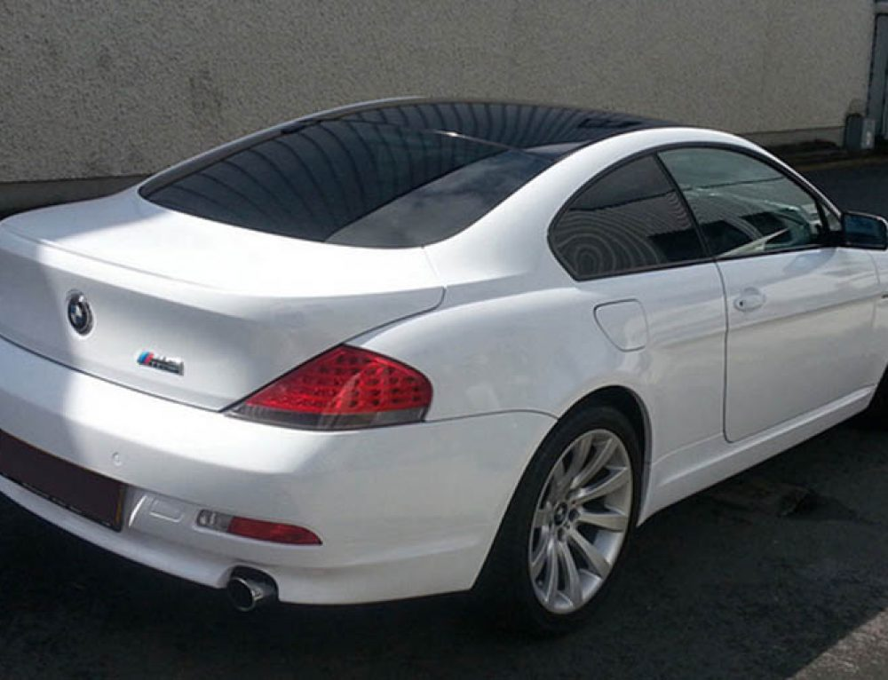 BMW 6 series gloss white wrap