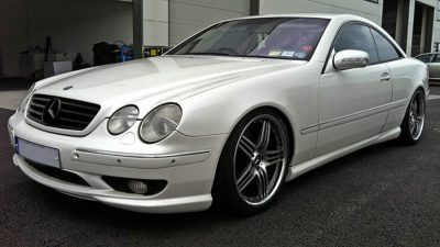 Mercede cl500 white pearl wrap
