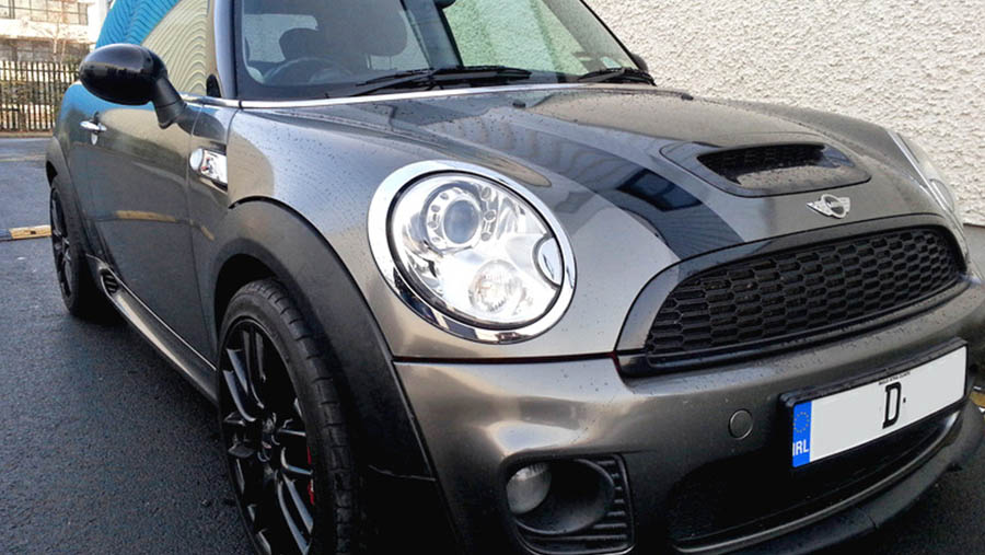 Mini Cooper S Gloss Gun Metal Grey Wrap Top Quality Car Wrapping