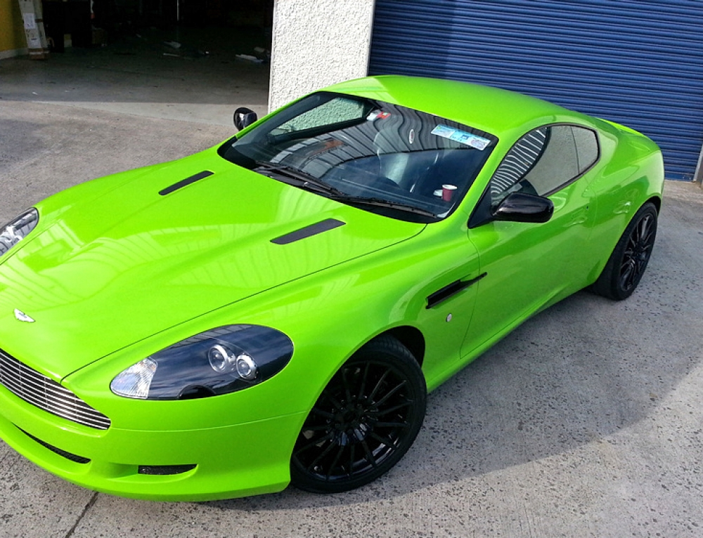 Aston Martin Lime green wrap