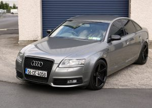 Audi A6 light grey metallic wrap