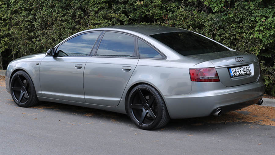Audi A6 light grey metallic wrap