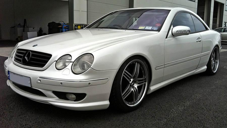 Mercede cl500 white pearl wrap