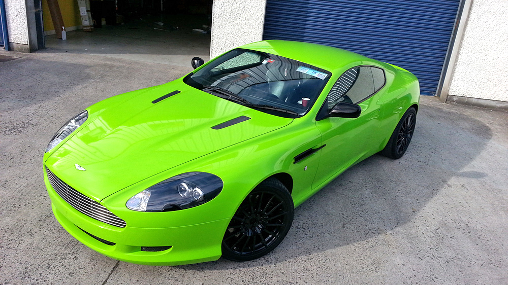 Aston martin green wrap