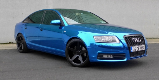 Audi a6 blue chrome wrap dublin