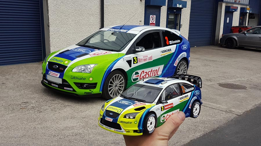 Ford Focus ST rally graphics