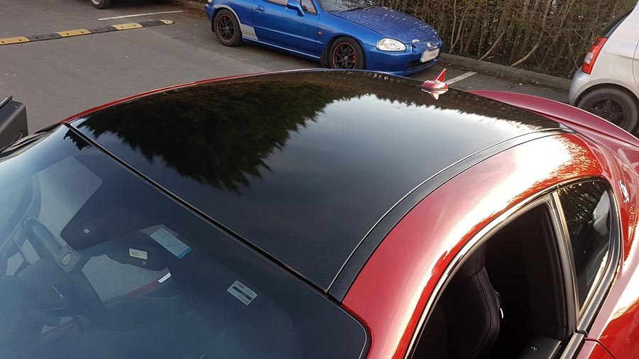 Maserati carbon fiber roof wrap